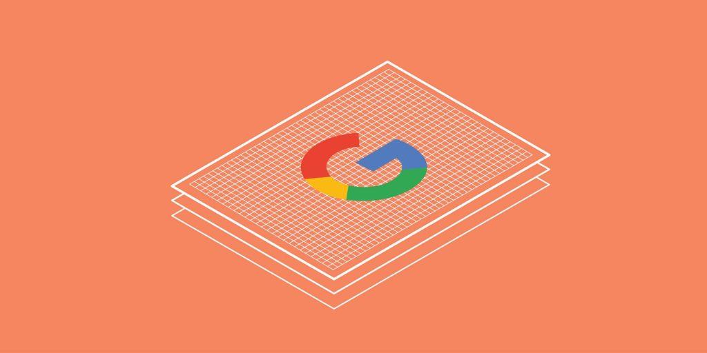 Graphic including the Google logo