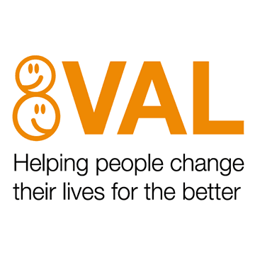Logo for charity VAL